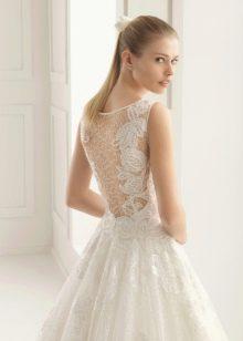 свадебное платье с кружевной спиной от Two by Rosa Clara 2016