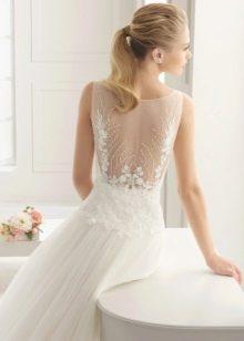 Two by Rosa Clara 2016 свадебное платье с открытой кружевной спиной