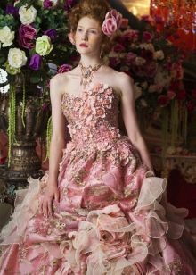 Платье свадебное в оттенках розового