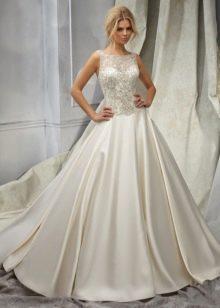 Свадебное платье цвета слоновой кости русалка