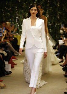 Брючный свадебный костюм