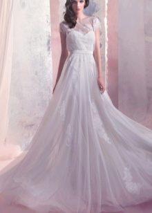 Свадебное платье а-силуэта из коллекции Энигма от Габбиано