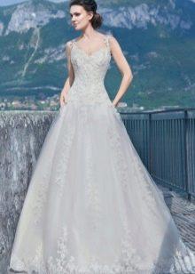Свадебное платье а-силуэта из коллекции Венеция от Габбиано
