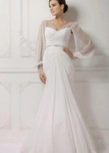 Свадебное платье с рукавами из коллекции Венеция от Габбиано