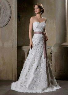 Свадебное платье кружевное из коллекции Римские каникулы от Габбиано