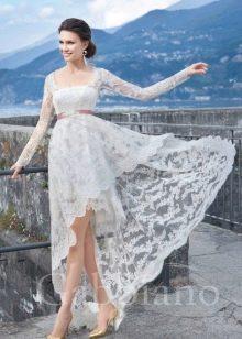 Свадебное платье хай-лоу из коллекции Венеция от Габбиано