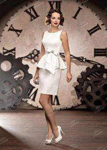 Свадебное платье из Bridal Collection 2014 короткое с баской
