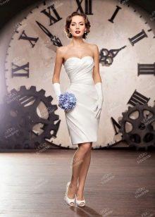 Свадебное платье из Bridal Collection 2014 короткое с драпировкой