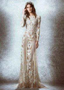 Полупрозрачное свадебное платье от Зухаира Мурада