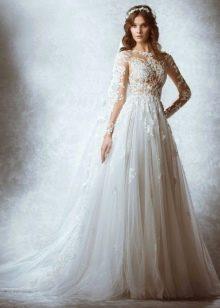 Свадебное платье от Zuhair Murad 2015 пс кружевным верхом
