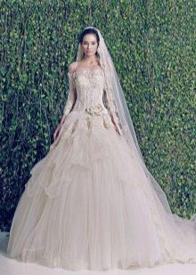 Свадебное платье из шифона 2014 от Зухаира Мурада