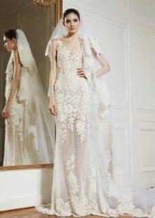 Свадебное платье из коллекции 2013 полупрозрачное