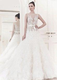Свадебное платье из коллекции 2014 а-силуэта