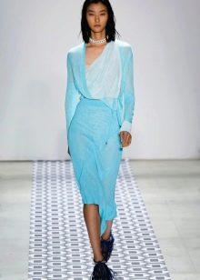 Голубое вечернее платье 2016