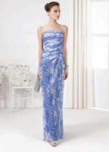 Синее вечернее платье 2016