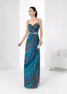 Синее вечернее платье от Роза