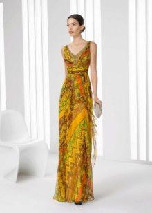 Цветное платье от Роза Клара 2016