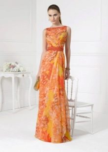 Оранжевое вечернее платье 2016