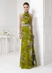 Зеленое вечернее платье 2016