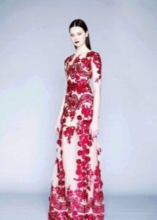 Вечернее платье от Марчезы 2016 с принтом