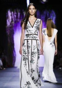 Вечернее платье от Тадаши Шоджи с принтом 2016