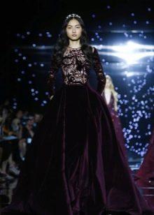 Зухаир Мурад вечернее пышное платье 2016