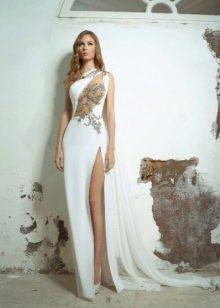 Вечернее откровенное белое платье 2016