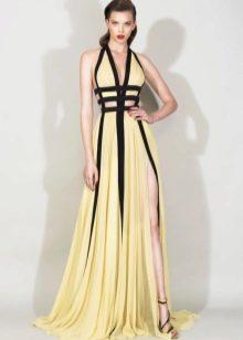 Желтое вечернее платье от Зухаира Мурада