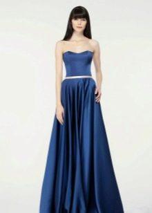 Вечернее платье простое синее
