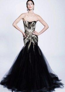 Вечернее платье русалка от Зака Позена