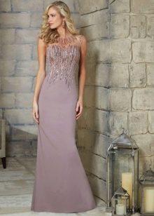 вечернее платье с рукавами для женщин 40 лет шелковое