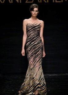 Вечернее платье с эффектом обнаженности