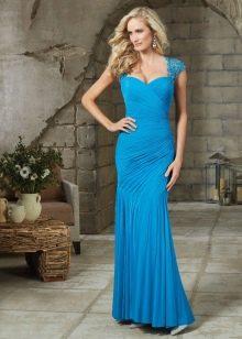 Вечернее платье с драпировкой для женщин 40 лет