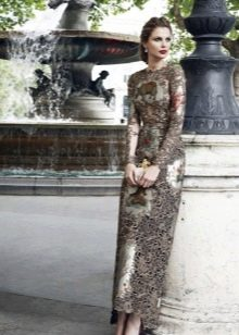 Частично кружевное вечернее платье для женщин 40 лет