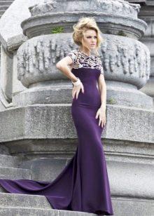 Фиолетовое вечернее платье для женщин 40 лет