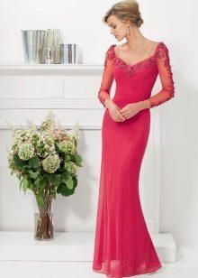 Вечернее платье русалка для женщин 40 лет красное