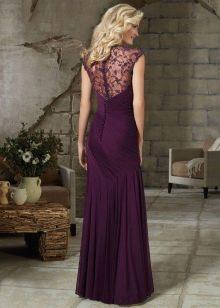 Вечернее платье для женщин 40 лет с кружевной спиной