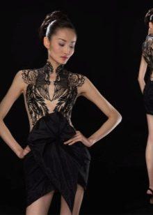 Вечернее платье с иллюзией обнаженности