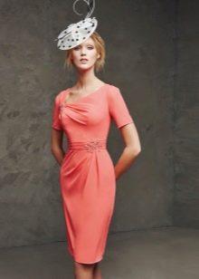 Вечернее платье  цвета коралл