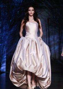 Платье миди короткое спереди длинное сзади на выпускной