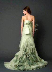 Свадебное платье светло-зеленого цвета