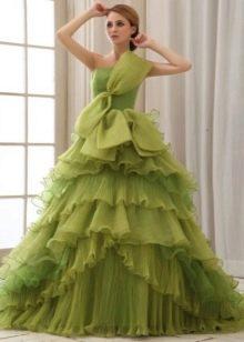 Свадебное платье оливкового цвета