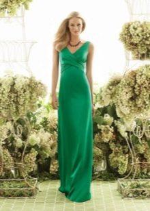 Свадебное платье на бретелях зеленое
