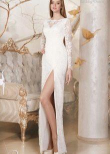 Свадебное платье с разрезом из коллекции Дыхание весны