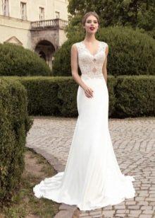 Свадебное платье с кружевным верхом от Армонии