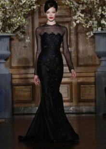 Romona Keveza свадебное черное платье