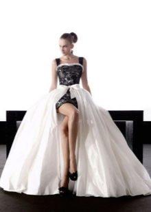 Черно-белое свадебное платье