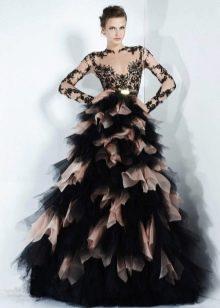 Свадебное двухцветное платье