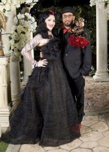 Свадебное черное платье Rochelle Karidis
