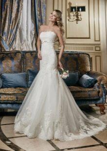 Свадебное платье русалка кружевное от Евы Уткиной